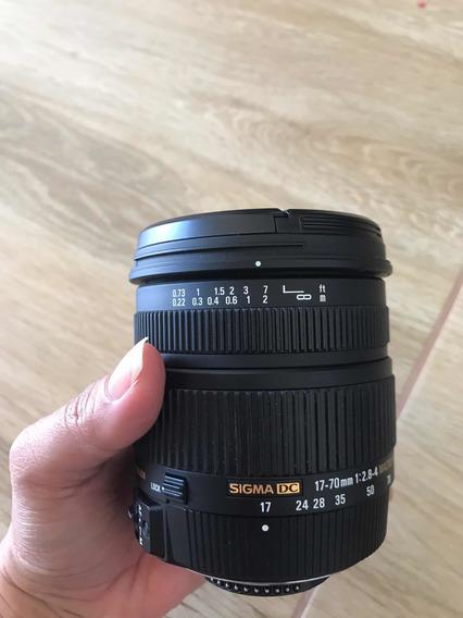 Lente Sigma 17-70mm 2.8-4 Nikon
