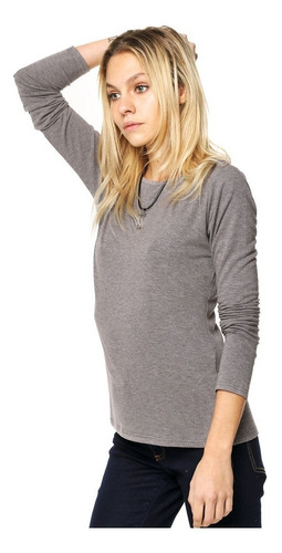 10 Remera Básica Manga Larga Mujer  + 1 Sweater Basico Liso