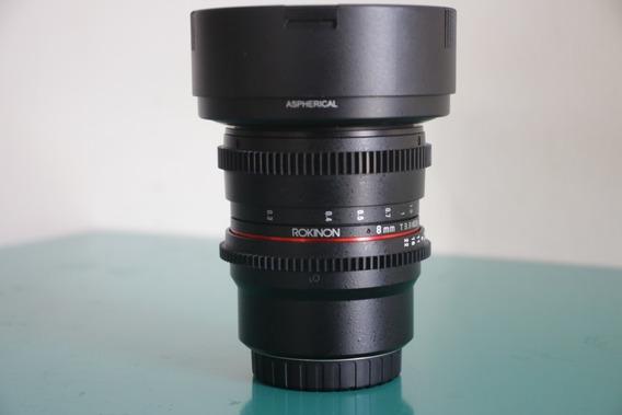 Lente Rokinon Cine 8mm M4/3