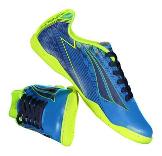 Chuteira Penalty Storm Viii Juvenil Futsal Azul