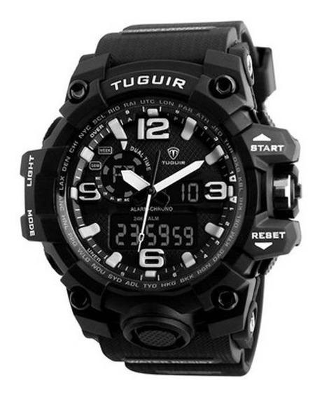 Relógio Masculino Tuguir Anadigi Tg1155 Preto E Branco Pulso