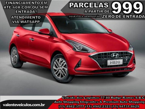Hyundai Hb20 1.0 T-gdi Diamond (aut) 2020 *todas As Cores*