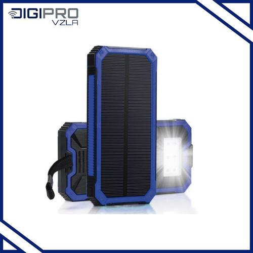 Power Bank Smart Carga Con  Energía Solar Con Linterna