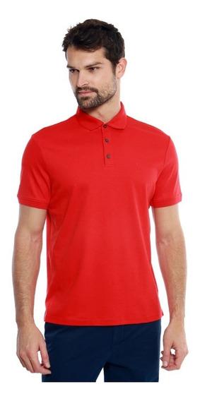 Playera Polo Calvin Klein Hombre Original Roja Casual