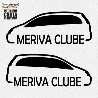Kit 2x Adesivos Clube Do Meriva Carro 20cm Frete Grátis A179