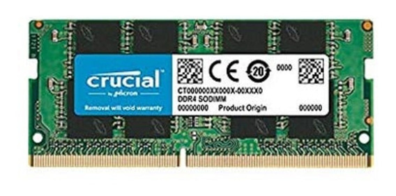 Memoria Ddr4 16gb Sodimm 2666mhz 1.2v Cl19 Notebook Crucial