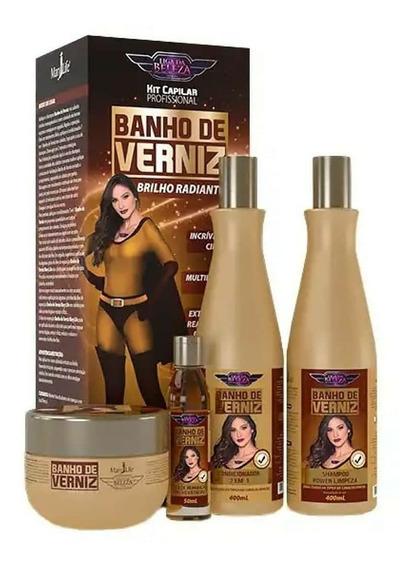 4 Kits De Banho De Verniz