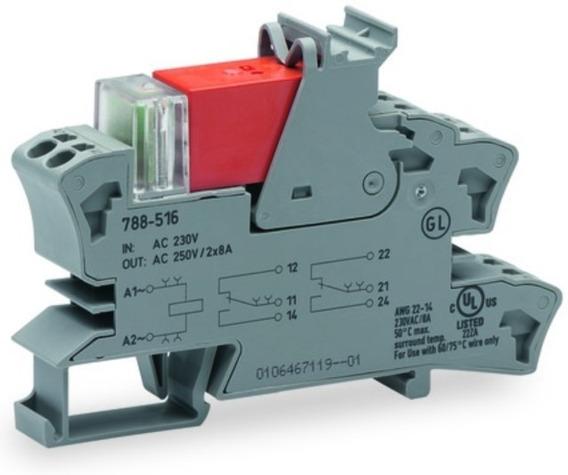 4 Rele Interface Wago 788-516 / 2 Contato Reversível 220 Vac
