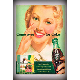 Placa - Quadro - Decorativo - Pin-up Refrigerante - (v037)