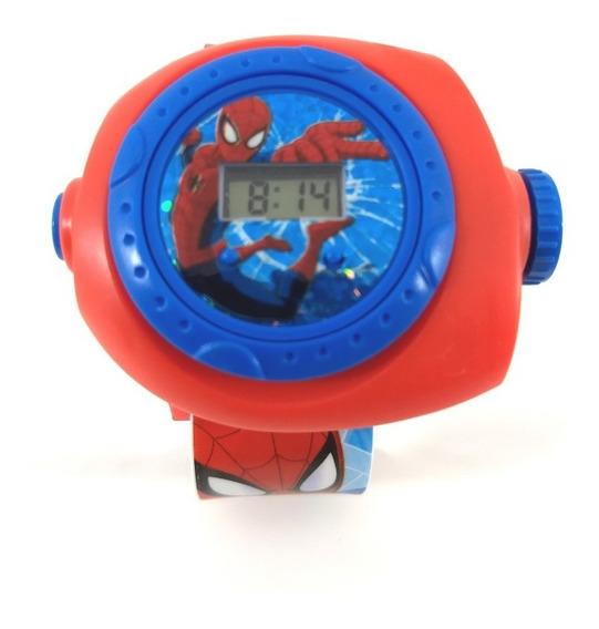 Relógio Infantil Homem Aranha Projetor De Figuras Promoção!!