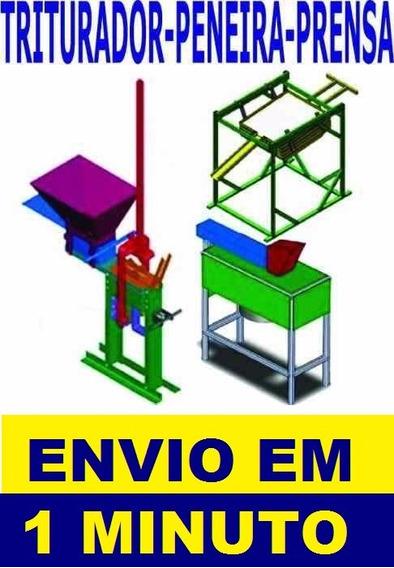 Projeto Prensa Tijolo Ecológico, Triturador E Peneira Manual