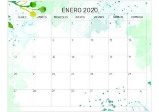 Calendario Escolar 2020 Argentina Para Imprimir.Calendarios Imprimible 2019 2020 En Mercado Libre Argentina