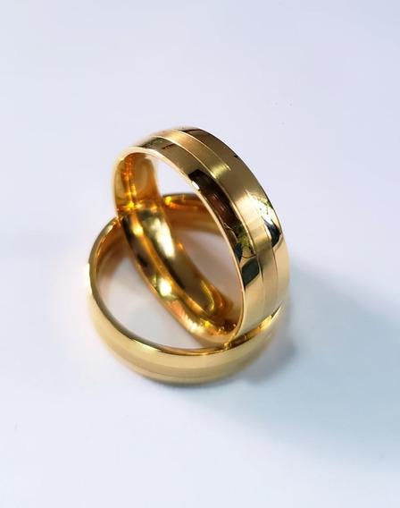 Par Alianças Banhado 18k Casamento Noivado Ouro ( Cuiabá )
