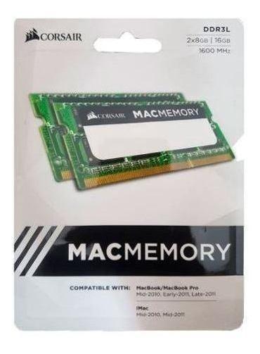 Kit Memória Notebook 16gb/1600 (2x8) Ddr3 Mac Corsair
