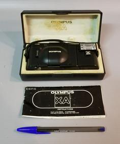 Câmera Fotográfica Olympus Xa 35 Mm Com Estojo E Manual