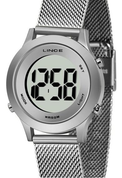 Relógio Lince Feminino Digital Prata Sdph111l Bxsx