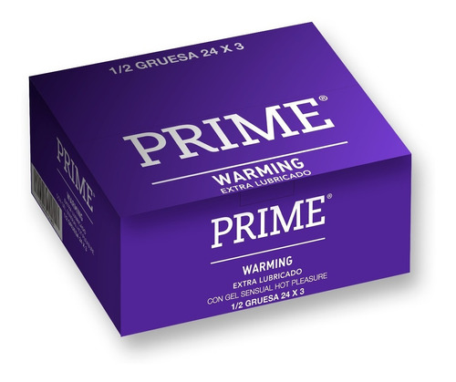 Preservativos Prime Warming X72 Unidades Mayor Temperatura