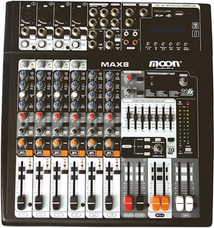 Consola Mixer Potenciado Moon Max 8 Canal Musicapilar