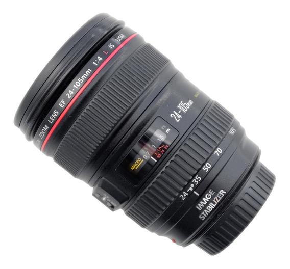 Lente Canon 24 105 Mm - Uso Amador - Bem Conservada