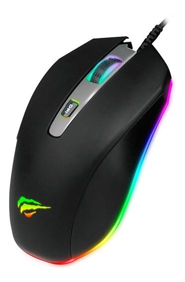 Mouse Gamer Havit Ms837 Rgb 7 Botões 7000 Dpi Usb