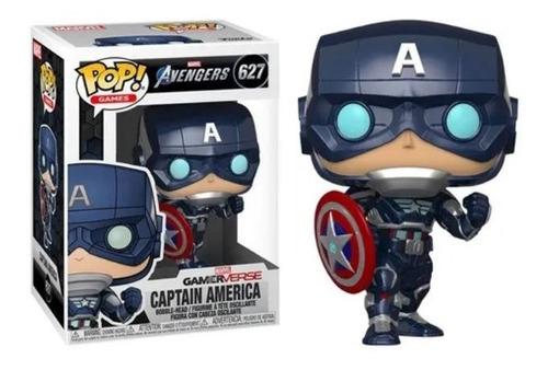 Funko Pop Captain America 627 Gamer Verse Marvel Avengers.