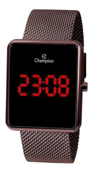 Relógio Champion Unissex Digital Ch40080o Marrom Quadrado