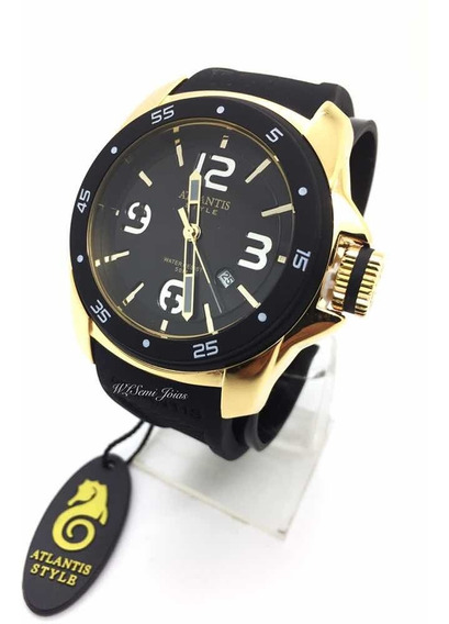 Relógio Masculino Atlantis G3216 Preto