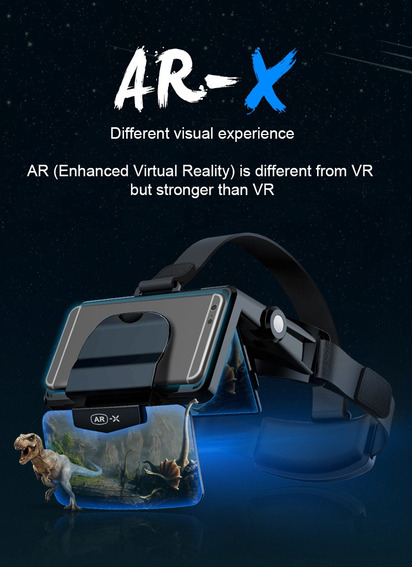 Fiit Vr Ar-x Óculos Capacete 3d Vr Vr Realidade Virtual Head