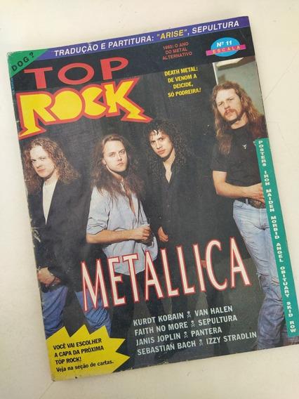 Revista Top Rock 11 Metallica Sepultura Pantera Janis Joplin