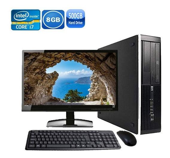 Computador Completo Hp 8300 Sff Core I7 8gb Hd 500gb + Wi-fi
