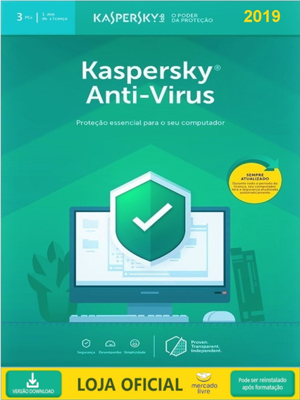 Kaspersky Anti Virus - 3 Usuarios 2019