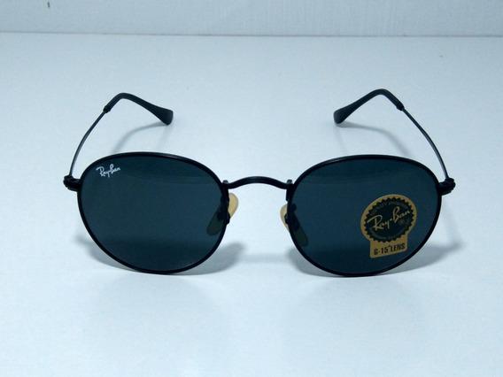 Óculos De Sol Redondo Round Retro Vintage Masculino Feminino Preto Inteiro Tamanho 50 M
