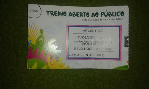 Ingresso Treino Argentina Copa 2014