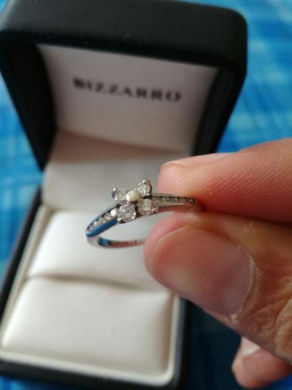 Anillo De Compromiso Bizarro Oro Blanco 14k 32 Pts Diamante