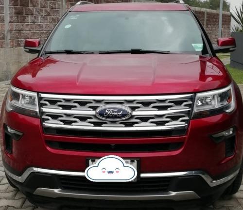 Imagen 1 de 15 de Ford Explorer 2018 Limited Fwd Color Rojo Rubí Int Piel