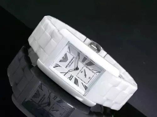 Relógio Emporio Armani Ar1408 Branca Cerâmica Lindo