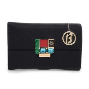 Bolsa Clutch Luxo Preta - Ana Hickmann