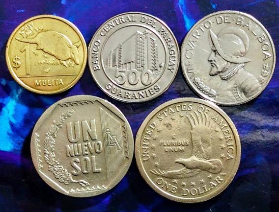 Monedas De América 8 Uruguay, Usa Y Otros Paìses