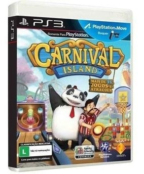 Jogo Carnival Island Ps3 Playstation Move Mídia Física Novo