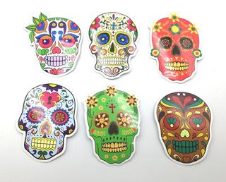 Sticker Calaberas Mexicanas Pack 6 Stickers Importados D