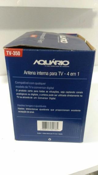 Antena Interna Para Tv 4 Em 1 Aquário