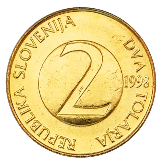 Ch C/ Eslovenia - 2 Tolarja 1998 Km# 5 Unc.