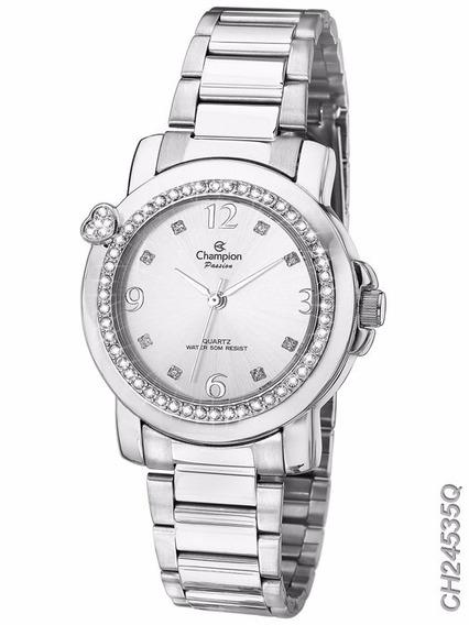 Relógio Champion Feminino Prateado Ch24535q Original + Nf
