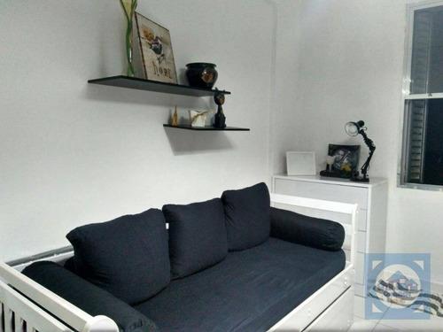 Imagem 1 de 23 de Kitnet Com 1 Dormitório À Venda, 21 M² Por R$ 138.000,00 - Itararé - São Vicente/sp - Kn0694