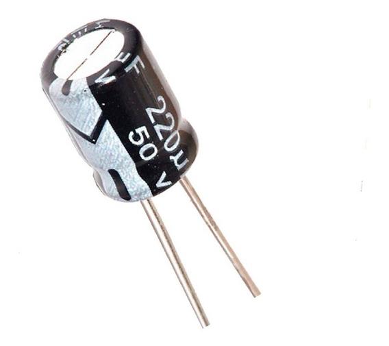Pack X 10 Unidades 220 Uf 50 V 8 Mm X 12 Mm Condensador