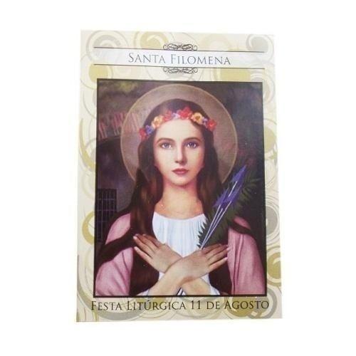 100 Folhetos Santinho Oração Santa Filomena