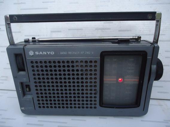Radio Sanyo De 3 Faixas Funcionando