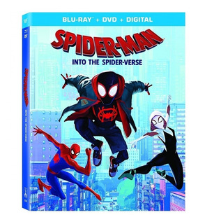 Spider Man Into The Spider Verse Blu Ray + Dvd Import Nuevo