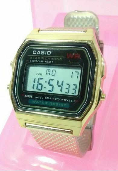 Relógio Dourado Feminino Luxo Top Vintage Barato Promoção