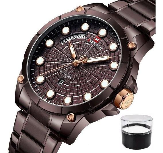 Relógio Naviforce 9152 Original Nota Fiscal Estojo Promoção